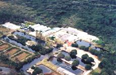 Vista aérea do laboratório