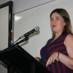 Professora Tatiana Garcia: agradecemos à Univille, mas precisávamos ter uma casa nossa, para começar a ter uma identidade em Joinville