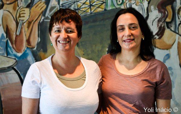 Professoras Roselane Neckel e Lúcia Pacheco