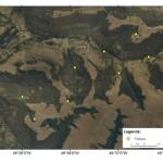 Imagem de satélite mostra as marcações do primeiro módulo. Imagem: Projeto Biodiversidade do Parque Nacional de São Joaquim