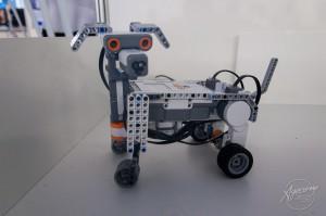 Este é um dos robôs inteligentes que pode ser visitado no estande do Campus Araranguá. Foto: Jair Filipe Quint / Agecom / UFSC