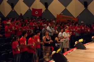 Seminário reúne cerca de 300 jovens no auditório Garapuvu da UFSC. Foto: Henrique Almeida/Agecom/UFSC