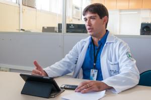Fernando Miranda acredita no aumento do número de transplantes de fígado no HU - Foto Henrique Almeida/Agecom/DGC/UFSC