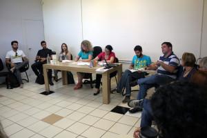 Primeira reunião do CAE em 2015, realizada no dia 18. (Foto: Leonardo Reynaldo/DGC/UFSC)