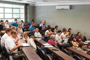 Sessão extraordinária do Conselho Universitário durante debate sobre a consulta para a escolha de reitores. (Foto: Henrique Almeida / Agecom / UFSC)