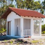 Casa de máquinas do açude principal da estrutura de manejo de água da Fazenda Ressacada, obra financiada pela UFSC e CT-Infra. (Foto: Jair Quint/Fotógrafo da Agecom/DGC/UFSC)