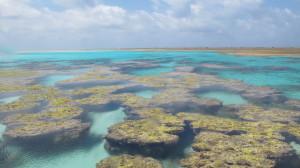 Piscina fechada no atol. Foto: Renato Morais Araujo/UFSC