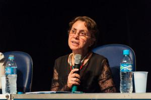 Margarida Barreto falou da necessidade de buscar as causas do assédio na cultura gerencial - Foto: Henrique Almeida