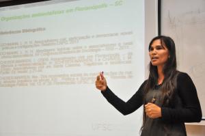 Lauri mapeou as associações ambientalistas. Foto: Daniela Caniçali/Agecom/DGC/UFSC