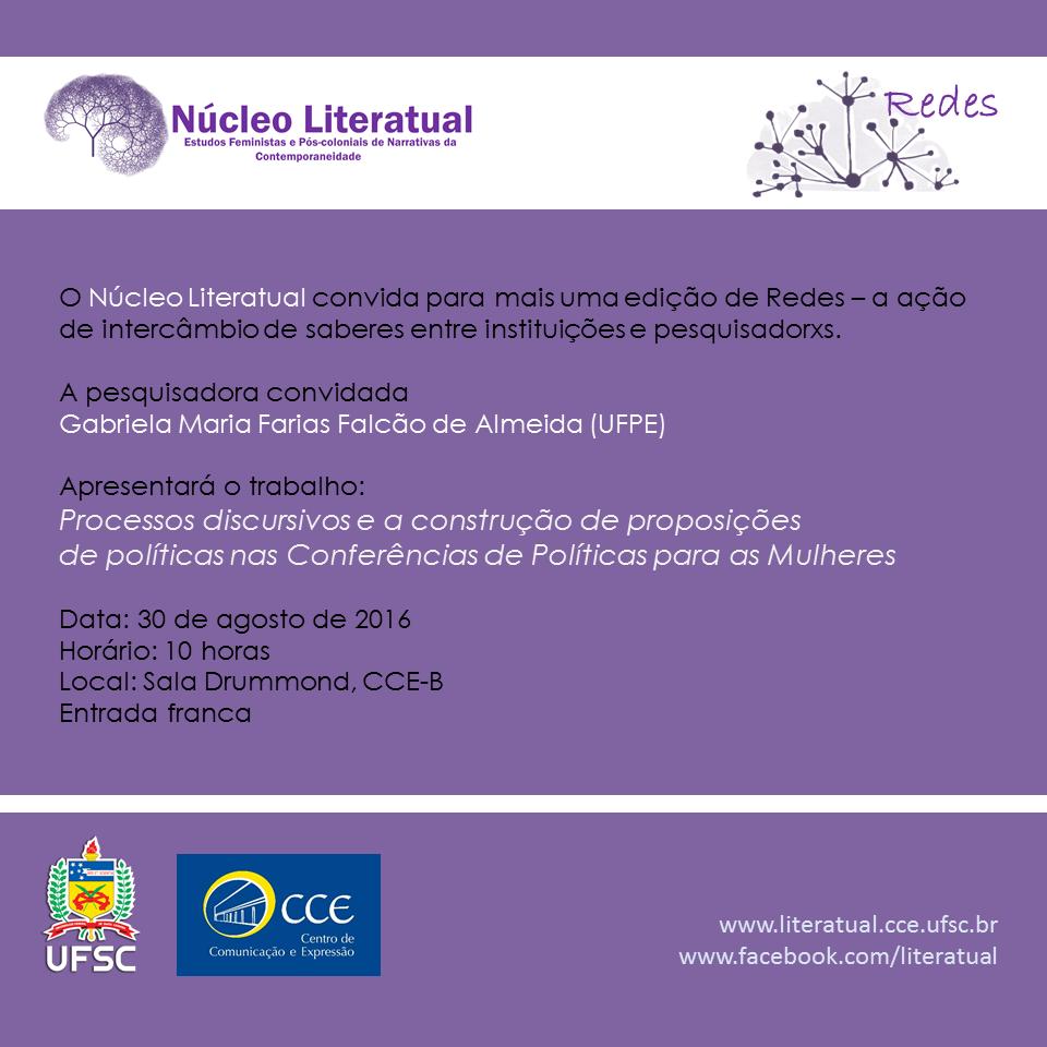 Convite Redes Gabriela Falcão