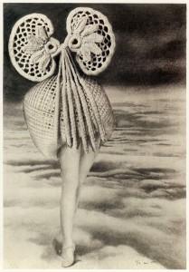 Au-dessus des nuages marche la minuit, 1920, Max Ernst