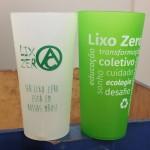 Copos reutilizáveis do projeto Lixo Zero. (Foto: Mayra Cajueiro Warren/Agecom/UFSC)