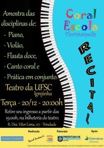 Cartaz Recital Coral-Escola 20.12.16