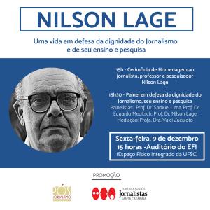 Convite homenagem Nilson Lage