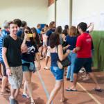 Estudantes adentraram o ginásio 3, com todas as listas, com ansiedade (Foto: Henrique Almeida/Agecom/UFSC)