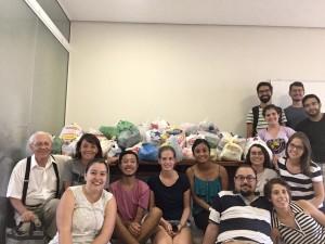 Grupo ajudou a arrecadar alimentos. Foto: Divulgação/UFSC.