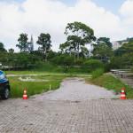 Acesso ao estacionamento na lateral esquerda do Bloco Administrativo do CDS. (Foto: Jair Quint/Agecom/UFSC)