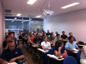 Aula inaugural da Pós-ECM. (Foto: Divulgação/UFSC Joinville)