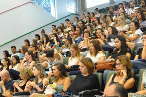 Mais de 60 pessoas participaram do evento, que reuniu residentes dos três programas, tanto ingressantes do primeiro ano como profissionais que estavam retornando ao segundo ano. (Foto: Ítalo Padilha/Agecom/UFSC)