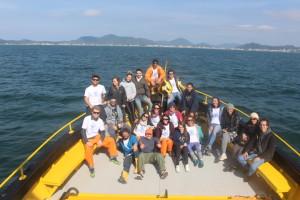 Integrantes do projeto MAArE durante última expedição oceanográfica.