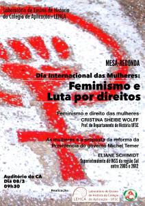 cartaz evento dia da mulher