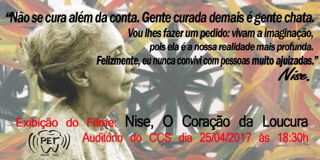Filme 'Nise – o coração da loucura' e debate sobre saúde mental @ Auditório de graduação do Centro de Ciências da Saúde (CCS) | Santa Catarina | Brasil
