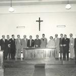 Posse dos primeiros professores da UFSC. Acervo Agecom